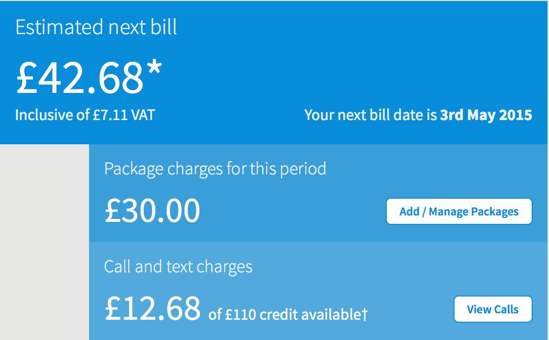 Estimated Next Bill