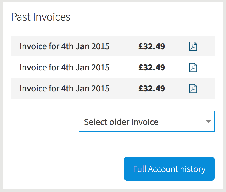 Past Invoices