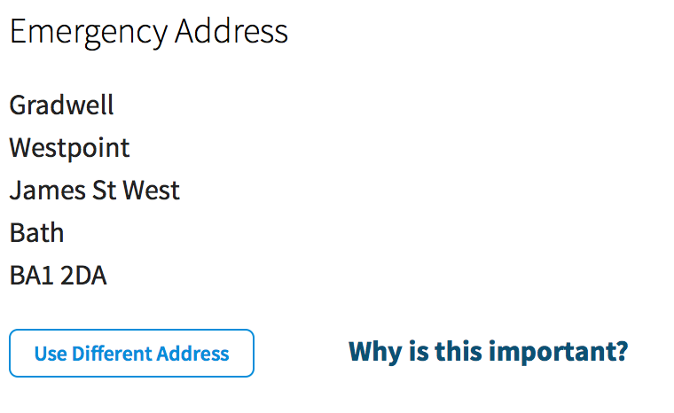 Configure Emergency Address